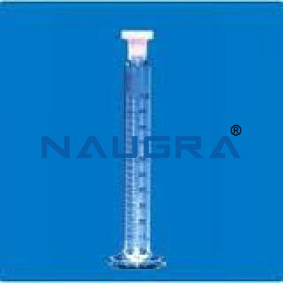 Measuring Cylinder with Spout & round base, Class \'A\' for Science Lab