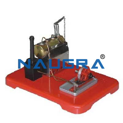 Steam Engine Model With a Boiler - Heat Transfer Training Systems and Heat Lab Engine Trainers for engineering schools