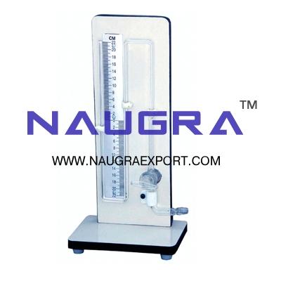 Manometer (Vacuum Gauge) Bennert for Physics Lab