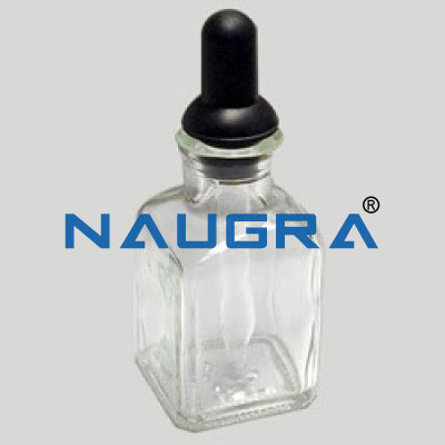 Dropping Bottle with interchangeable dropper and rubber teat for Science Lab