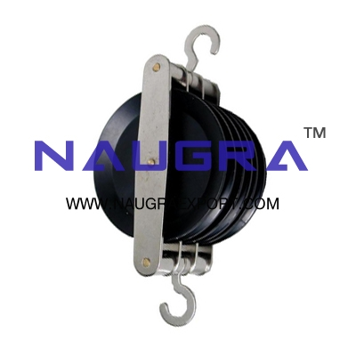 Pulley Triple Parallel Plastic for Physics Lab