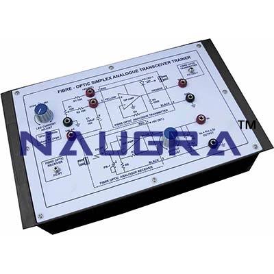 Fibre Optic Simplex Analogue Transceiver Trainer 1 Trainer for Vocational Training and Didactic Labs