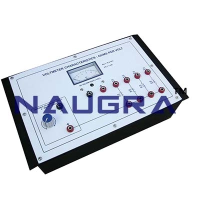 Voltmeter Characteristics - Ohms per Volt Trainer for Vocational Training and Didactic Labs