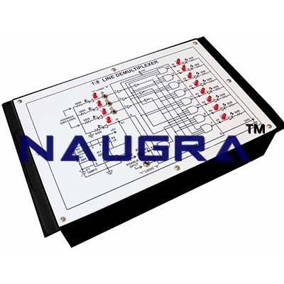 8 Line Demultiplexer Trainer for Vocational Training and Didactic Labs