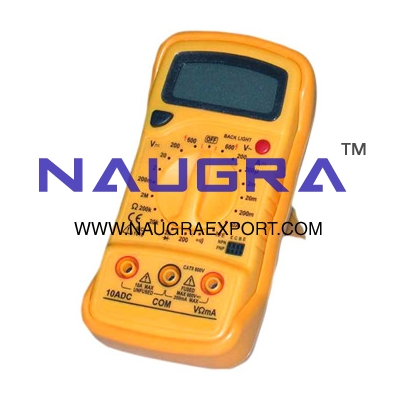 Multimeter Digital 3� digit LCD  - Deluxe for Physics Lab