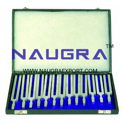 Tuning Forks Set of 13 Aluminium for Physics Lab