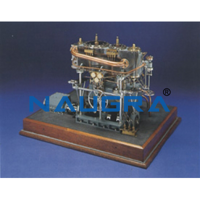 Model of Compound Steam Engine - Heat Transfer Training Systems and Heat Lab Engine Trainers for engineering schools