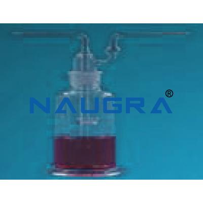 Gas washing Bottles, Dreshle\'s type for Science Lab