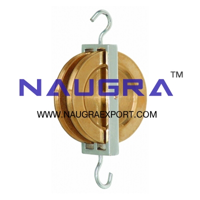 Pulley Double Parallel Brass for Physics Lab
