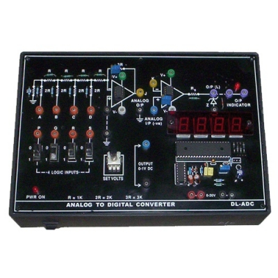 Analog to Digital Converter (A to D) for Vocational Training and Didactic Labs
