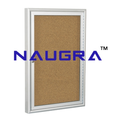 Indoor Enclosed Aluminum Bulletin Boards for Whiteboard Lab