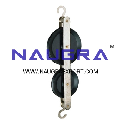 Pulley Double in Line Plastic for Physics Lab