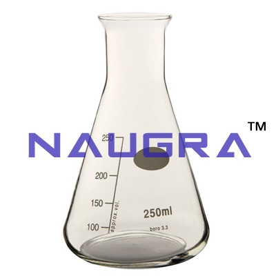 Flask Erlenmeyer narrow neck, graduated for Science Lab