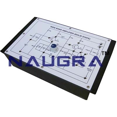 Wide Band Amplifier Trainer for Vocational Training and Didactic Labs