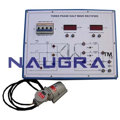 3 Phase Half Wave Rectifier Trainer for Vocational Training and Didactic Labs