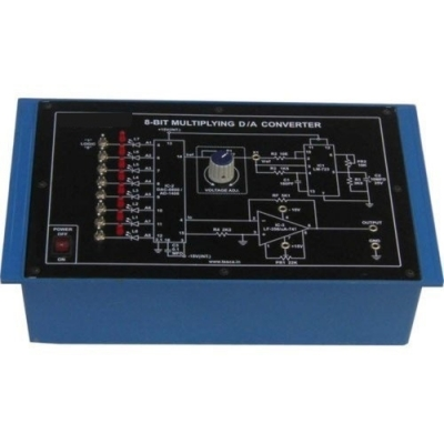 8-Bit Multiplying Digital to Analog (D/A) Converter (Based on AD1408) for Vocational Training and Didactic Labs