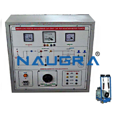 single phase capacitor start capacitor run induction motor load test