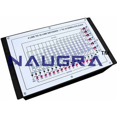 4 Line to 16 Line Decoder 1 to 16 Demultiplexer for Vocational Training and Didactic Labs