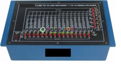 4 Line to 16 Line Decoder/ 1 to 16 Demultiplexer Electronics Lab Trainers for Vocational Training and Didactic Labs