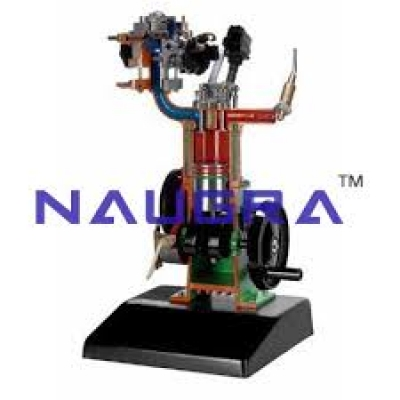 4-stroke Petrol Engine with Mono-jetronic Electronic Injection Model Cutaways  Models for engineering schools