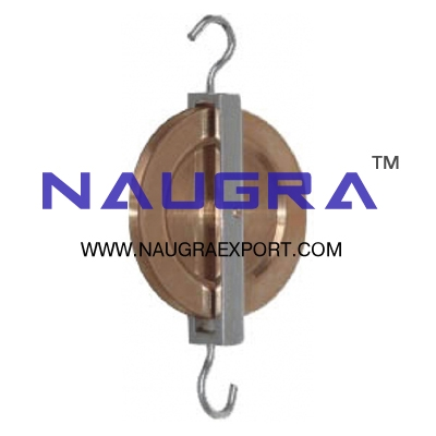 Pulley Single Brass for Physics Lab