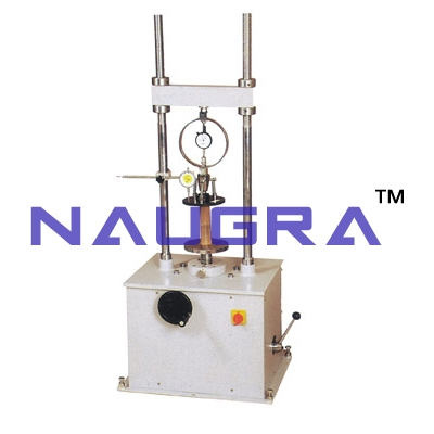 Unconfined Compression Tester Proving Ring Type (Motorised) For Testing Lab for Soil Testing Lab