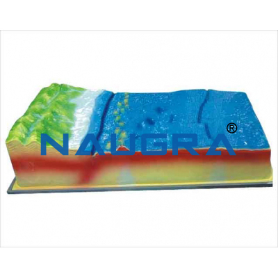 Model of plate structure and surface for Earth Science Lab