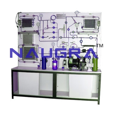 Commercial refrigeration training unit for engineering schools