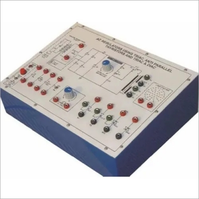AC Regulators Using Triac, Anti Parallel Thyristor and Triac & Diac for Power Electronics Training Labs for Vocational Training and Didactic Labs