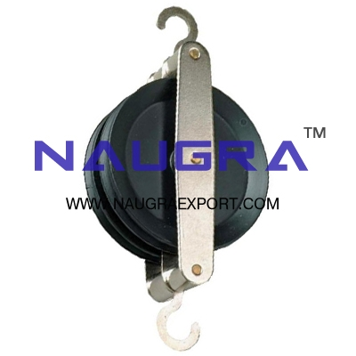 Pulley Double Parallel Plastic for Physics Lab