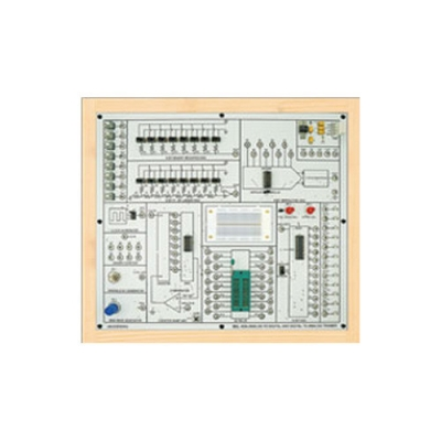 8-Bit Analog to Digital (A/D) Converter (Based on ADC 0800) for Vocational Training and Didactic Labs