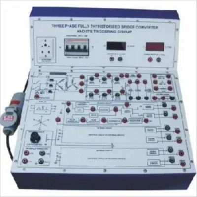 3 Phase Half Controlled Thyristorized Bridge Converter - Triggering Circuit for Power Electronics Training Labs for Vocational Training and Didactic Labs