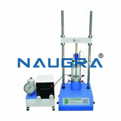 triaxial test Triaxial test equipment for triaxial shear strength testing on undisturbed or remolded samples can control drainage and monitor specimen pore pressure.