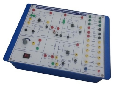 Electronic Timer Using IC-555 for Power Electronics Training Labs for Vocational Training and Didactic Labs