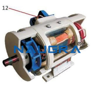 Electrical DC Motor Cut Section