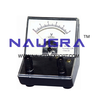 Meter - Dual Scale Voltmeter for Physics Lab