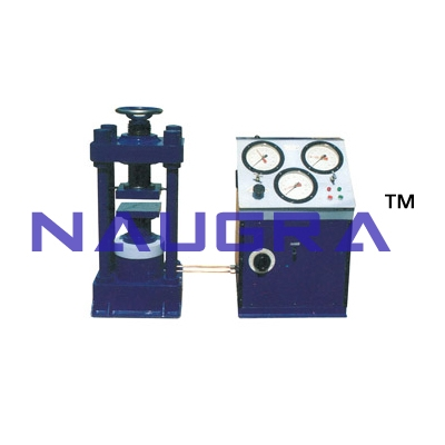 Compression Testing Machine (Four Pillar Nut Model) Hand cum Electrical Operated For Testing Lab for Concrete Testing Lab