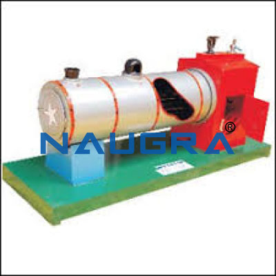 Model of Locomotive Boiler - Heat Transfer Training Systems and Heat Lab Engine Trainers for engineering schools