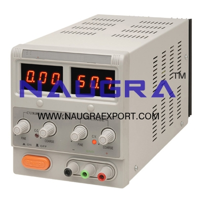 Power Supply (D.C) Regulated (Digital) 0-30V: Capacity: 10A for Physics Lab