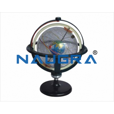 Transparesnt star globe for Earth Science Lab