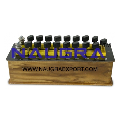 Resistance Box (Brass Contact Blocks) for Physics Lab
