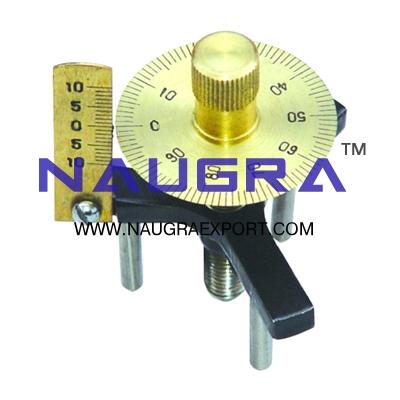 Spherometer Brass for Physics Lab