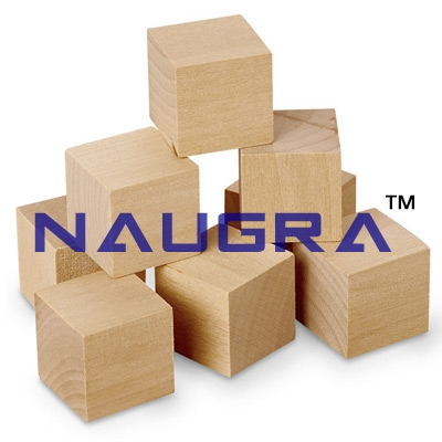 1 Inch Plain Wooden Cubes - Set of 100 for Maths Lab