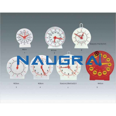 Teacher and Pupil Clock for Maths Lab