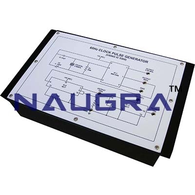 Electronic Digital Wall Clock Trainer for Vocational Training and Didactic Labs