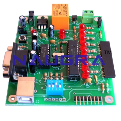 PIC USB Microcontroller Development Board for Vocational Training and Didactic Labs