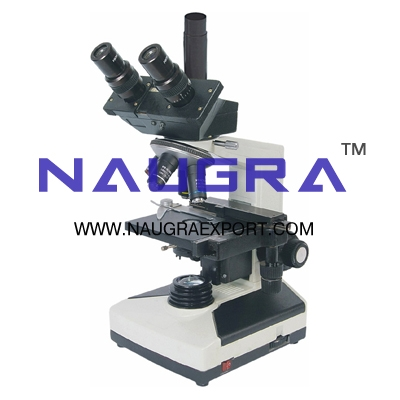 Coaxial Trinocular Microscope for Science Lab