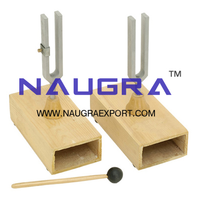 Tuning Fork Pair on box (Beats Apparatus) for Physics Lab