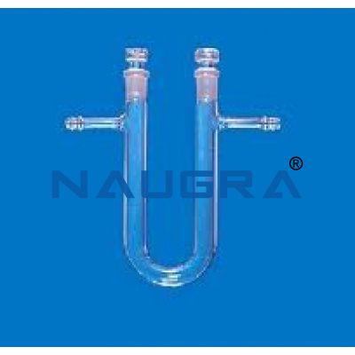 Calcium Chloride Tube, U shape with side tube and stopper for Science Lab