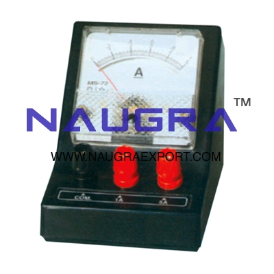 Meter - Dual Scale Ammeter for Physics Lab